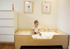 DIY Projects: DIY Toddler bed with birch plywood @ http://karelchristopherson.blogspot.com/2013/06/diy-toddler-bed-with-birch-plywood.html