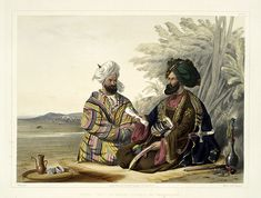 Un embajador-The costumes of the various tribes.. 1848-James Rattray
