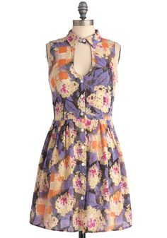 "Modcloth ""haute hydrangeas"" dress"