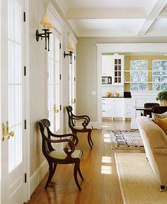 living room/kitchen transition