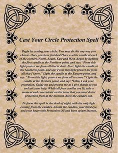 Magick Spells: Cast Your Circle Protection Witch Spell Book, Witchcraft Spell Books, Wicca Witchcraft, Magick Spells, Wiccan Art, Wiccan Magic, Wiccan Crafts, Summoning Spells, Gypsy Spells
