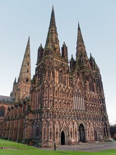 Lichfield Cathedral, England Southern Europe, Cathedral Church, Amazing Buildings, Gothic Architecture, Central Europe, Place Of Worship, Eastern Europe, Days Out, World Heritage Sites