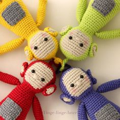 Teletubbies!  Crocheting : Screenies crochet pattern - ENGLISH