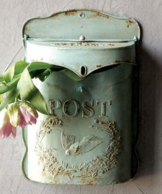 Look at this #zulilyfind! Tin 'Post' Letter Box #zulilyfinds