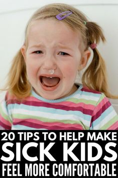 From coughs and colds, to fever and pain, to vomiting and tummy bugs, we've got 20 genius tips to make sick days more bearable for you and your little ones! Sick Toddler, Sick Baby, Sick Kids, Toddler Throwing Up, Remedios Congestion Nasal, Treatment For Sore Throat, Cold Medicine, Cold Sore, Parenting Tips