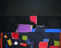 "Charlotte Culot, ""Magic Black Night"", pigments on paper, 120x148 cm, 2015 © Art Connect"