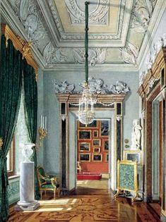 Зеленая угловая. Арх. А. Ринальди, 1770-е гг. Акварель Э. Гау, 1880г.