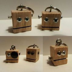 Key rings made of beech wood. Teds Woodworking, Woodworking Projects, Scrap Wood Projects, Father's Day Diy, Diy Holz, Kids Wood, Wood Creations, Wooden Blocks, Wooden Crafts