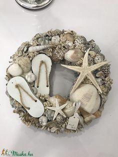 Driftwood Wreath, Seashell Wreath, Seashell Art, Seashell Crafts, Nautical Wreath, Beach Gifts, Sea Crafts, Condo Decorating, Summer Wreath