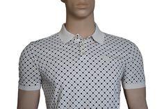 Pretty Green Men's Tilney Cotton Polo Shirt Tshirt Antique White Medium BNWT #PrettyGreen #PoloShirts