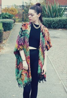 (Elsie & Fred boutique - Tie Dye Hippy grunge Kimono) I like this a lot but with a softer kimono