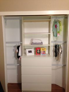 IKEA Hacked baby closet. I really want to use this tutorial to redo our closet for the kids!