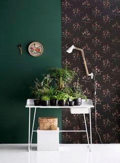 我們看到了。我們是生活@家。: 芬蘭室內設計師&裝飾編輯Susanna Vento,以暗深的綠色為基底,一系列精彩的作品!