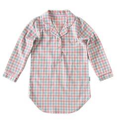 Girls sleepshirt Little Label 'Woven Pink Blue Check'