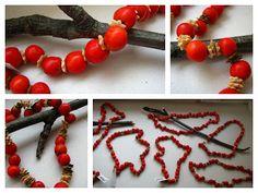 Školní družina: Náhrdelník z jeřabin Autumn, Bracelets, Jewelry, Jewlery, Fall Season, Jewerly, Schmuck, Fall, Jewels
