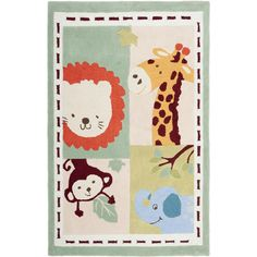 A whimsical children's design and dense, thick pile highlight this ultra soft and plush New Zealand wool pile handmade rug.