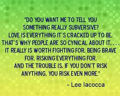 Lee Iacocca quote about love