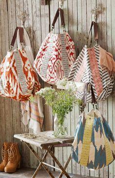 Slouchy Tote-beautiful bags, sewing machine out for summer! Drawing Bag, Diy Sac, Grey And Coral, Orange Grey, Teal, Diy Bags Purses, Hobo Purses, Handmade Bags, Bag Making