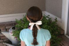 Double Twist Ponytail (Back) LOVE THIS WEBSITE!!!!