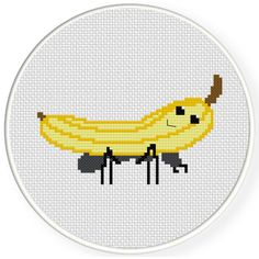 FREE for May 13 2017 Only - Banana Rides Ant Cross Stitch Pattern