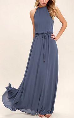 564454d8efd6e Be Mellow Denim Blue Maxi Dress via  bestmaxidress