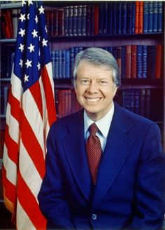 "James Earl ""Jimmy"" Carter, Jr., 39th President of the United States (1977 to 1981).  Official White House photograph, by Karl Schumacher, January 31, 1977.  Library of Congress Prints and Photographs Division."