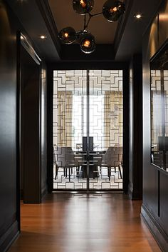 POWELL & BONNELL, entryway decor ideas, home furniture, contemporary furniture, design ideas, for more inspirations: http://www.bocadolobo.com/en/inspiration-and-ideas/ (Furniture Designs Doors)