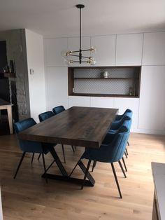TABLE ORLÉANS - MERISIER - BRUNE CLAIRE - 80'' X 40'' - PLATEAU 3'' - PATTES ÉTOILES #lusine #table #orleans #merisier #bruneclaire #patteetoile