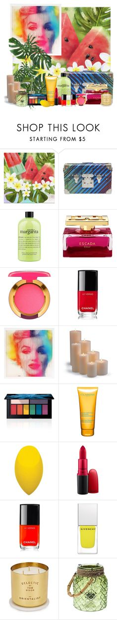 """""""Colorful summer"""" by trendy777 on Polyvore featuring Belleza, Louis Vuitton, philosophy, MAC Cosmetics, Chanel, Frontgate, Smashbox, Clarins, Givenchy y Tom Dixon"""