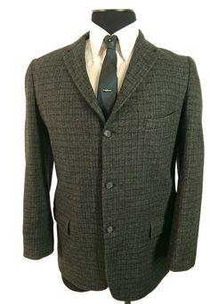 Vintage 1960s Mens tweed sport coat. Skinny lapel. by EndlessAlley