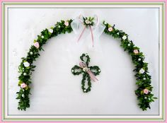 Dekoration - Ehrenplatzranke Tischdeko, Kommunion, Konfirmation - ein Designerstück von Blumeneri bei DaWanda