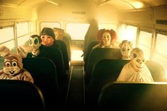 The back of the bus...