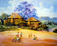 Paintings - D'Arcy W. Doyle - Page 5 - Australian Art Auction Records Australian Painters, Australian Artists, Foggy Morning, Country Scenes, Fine Art Auctions, Spring Art, Marbles, Art World, Oil Paintings