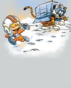 Attack of the Deranged Killer Snow Walkers - CALVIN AND HOBBES and STAR WARS Mashup