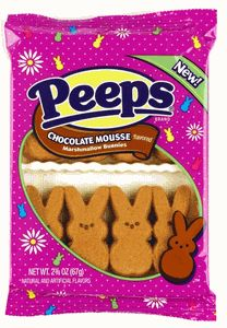 Chocolate Mousse Peeps! These sound yummy! I like the gingerbread flavored ones :)