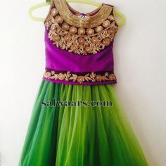 Purple Rose Work Kids Blouse - Indian Dresses