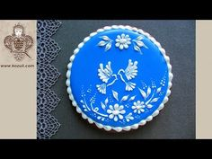 Wedding Cookies. How to make Love Birds Wedding Cookie. Cookie decorating with royal icing - YouTube