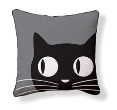 Naked Decor - Big Eyes Cat Pillow>>this reminds me of my kitty! Crazy Cat Lady, Crazy Cats, Cat Cushion, Cat Quilt, Cat Pillow, Sewing Pillows, Cat Crafts, Big Eyes, Cat Art