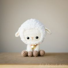 "Today's FREE crochet pattern is for an adorable amigurumi lamb, designed by Stephanie Jessica Lau from her ""All About Ami"" website. I just love this cute sheep/lamb that Stephanie des..."