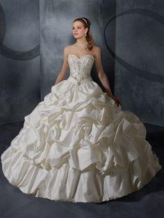 Ball Gown Sweetheart Taffeta Court Train Pick-Ups Wedding Dresses at Msdressy