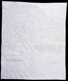 """1871,"" a robotically quilted piece from February, 2012"