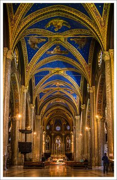 Interior of Santa Maria sopra Minerva in Rome, one of the major churches of the Dominicans.
