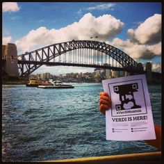 We #foundVerdi at #HarbourBridge in #Sydney. Thanks to @thealbytrain #VerdiMuseum is everywhere