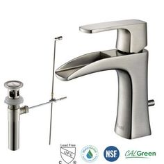 RIVUSS Carrion Single Handle Lead-Free Brass Bathroom Faucet with Pull Out…