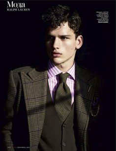 Top model Simon Nessman poses for the September 2011 issue of Russian GQ in a shoot by photographer Richard Phibbs. Russian Male Model, Russian Men, Simon Nessman, Couple With Baby, Alfred Stieglitz, Photography Poses For Men, Gorgeous Eyes, Attractive Men, Mens Clothing Styles