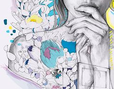 """Check out new work on my @Behance portfolio: """"Live in color"""" http://be.net/gallery/52313815/Live-in-color  #animation #illustratiom #podessto #flowers #girl #mixmedia #colorful #love #color #cartoon #motion"""