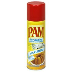 Pam for Baking with Flour... the best for baking and smells delicious, too.