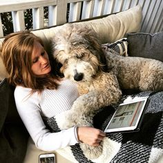 """e9baf36df028 Ocoee River Doodles on Instagram  """"We re not ready to let go of the  weekend! Sweet Copper loves himself some cuddles. (105lb Bernedoodle from  Jewels and ..."""