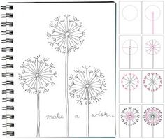 how to draw dandelion art-projects