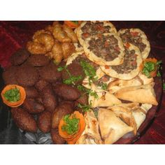 "Love Arabic food! The beloved ""Mezza Plate""! Just think Chili's Mombo Combo but Arabic style!"